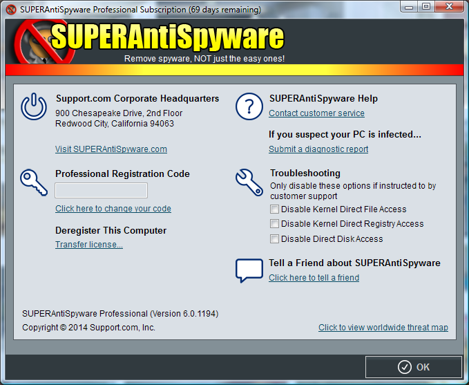 superantispyware 6.0